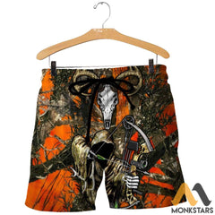 Grim Reaper Bow Hunter Camo 3D All Over Printed Shirts For Men & Women Shorts / S Clothes