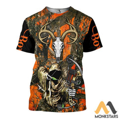 Grim Reaper Bow Hunter Camo 3D All Over Printed Shirts For Men & Women T-Shirt / S Clothes