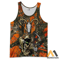 Grim Reaper Bow Hunter Camo 3D All Over Printed Shirts For Men & Women Tank Top / S Clothes