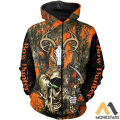 Grim Reaper Bow Hunter Camo 3D All Over Printed Shirts For Men & Women Zip Hoodie / S Clothes