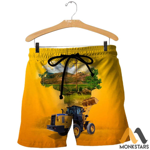 Heavy Equipment 3D All Over Printed Shirts For Men & Women Shorts / Xs Clothes
