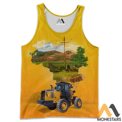 Heavy Equipment 3D All Over Printed Shirts For Men & Women Tank Top / S Clothes