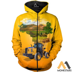 Heavy Equipment 3D All Over Printed Shirts For Men & Women Zipped Hoodie / Xs Clothes