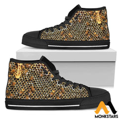High Top Shoes - Bee Mens Black Tops / Us5 (Eu38)