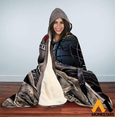 Hooded Blanket - Love Hockey