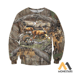 Hunting 3D All Over Printed Shirts For Men & Women Long-Sleeved Shirt / S Clothes