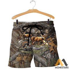 Hunting 3D All Over Printed Shirts For Men & Women Shorts / S Clothes