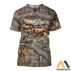 Hunting 3D All Over Printed Shirts For Men & Women T-Shirt / S Clothes