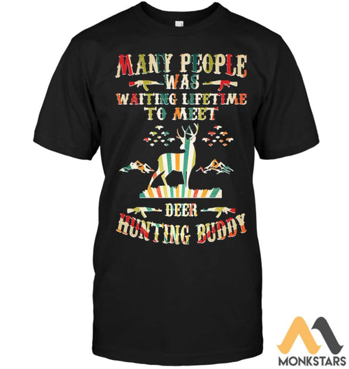 Hunting Deer 2D Printed Shirts For Men & Women Unisex Short Sleeve Classic Tee / Black S Apparel