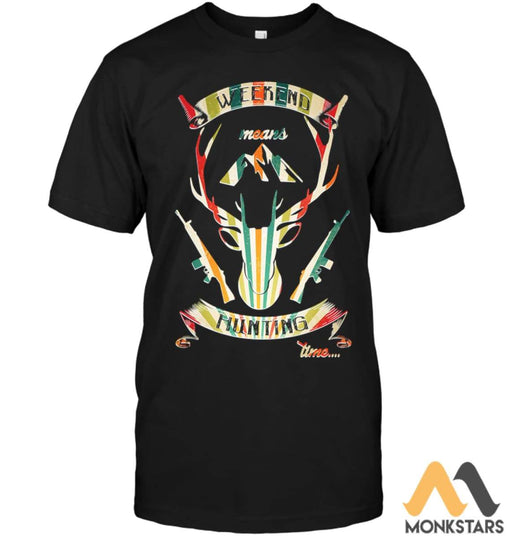 Hunting Deer Shirts Unisex Short Sleeve Classic Tee / Black S Apparel