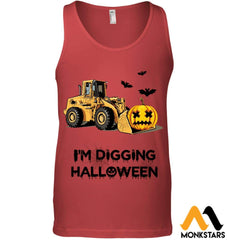 Im Digging The Halloween Canvas Unisex Ringspun Tank / Red S