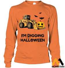 Im Digging The Halloween Gildan 6.1Oz Long Sleeve / Safety Orange S