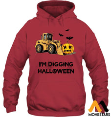 Im Digging The Halloween Gildan 8Oz. Heavy Blend Hoodie / Cardinal Red S