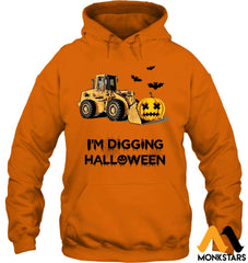 Im Digging The Halloween Gildan 8Oz. Heavy Blend Hoodie / Safety Orange S