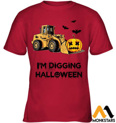Im Digging The Halloween Gildan Kids Tee / Red S