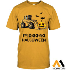 Im Digging The Halloween Hanes Tagless Tee / Gold S