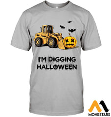 Im Digging The Halloween Hanes Tagless Tee / Light Steel S