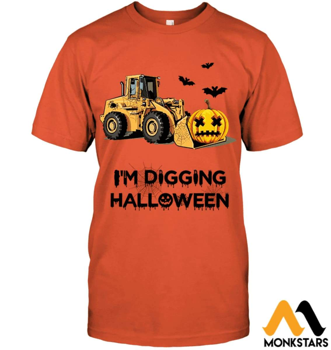 Im Digging The Halloween Hanes Tagless Tee / Orange S