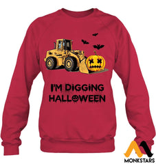 Im Digging The Halloween Hanes Unisex Crewneck Sweatshirt / Deep Red S
