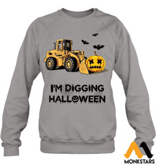 Im Digging The Halloween Hanes Unisex Crewneck Sweatshirt / Light Steel S