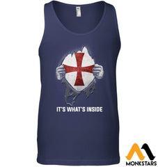 Its Whats Inside Shirts - Knight Templar Canvas Unisex Ringspun Tank / Navy Xs