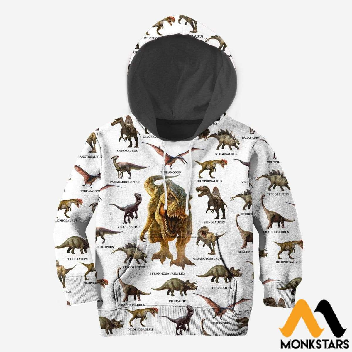 Kid 3D All Over Printed Dinosaur Collection Shirts And Shorts Normal Hoodie / Toddler 2T Clothes