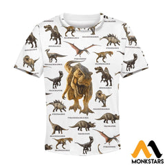 Kid 3D All Over Printed Dinosaur Collection Shirts And Shorts T-Shirt / Toddler 2T Clothes