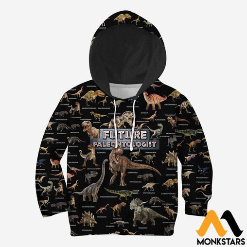 Kid 3D All Over Printed Future Paleontologist Shirts And Shorts Normal Hoodie / Toddler 2T Clothes