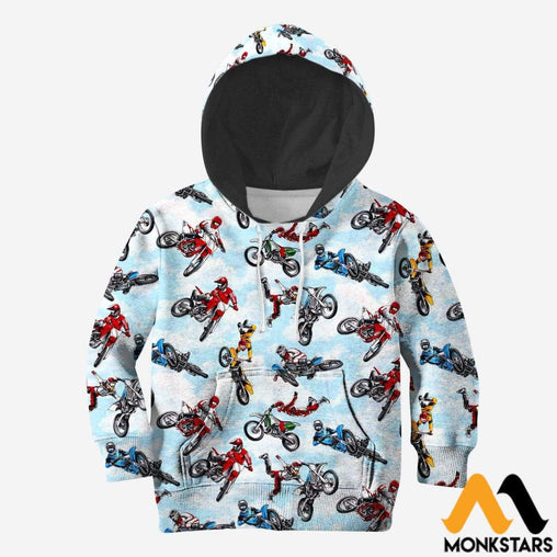 Kid 3D All Over Printed Motorcross Shirts And Shorts Normal Hoodie / Toddler 2T Clothes