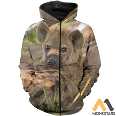 Love Hyenas 3D All Over Printed Shirts For Men & Women Zipped Hoodie / Xs Clothes