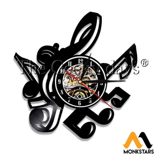 Music Notes Vinyl Wall Clock No