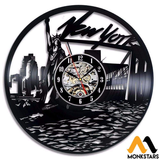 New York Vinyl Record Wall Clock