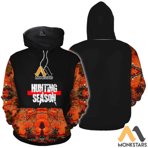 Orange Camo Hunting 3D All Over Printed Shirts For Men & Women Normal Hoodie / Xs Clothes