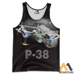 P-38 3D All Over Printed Shirt For Men & Women Tank Top / S Clothes
