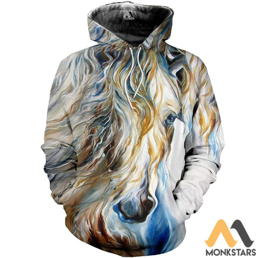 Painting Horse 3D All Over Printed Shirts For Men & Women Normal Hoodie / Xs Clothes