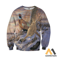 Pheasants In The Snow 3D All Over Printed Shirts For Men & Women Long-Sleeved Shirt / Xs Clothes