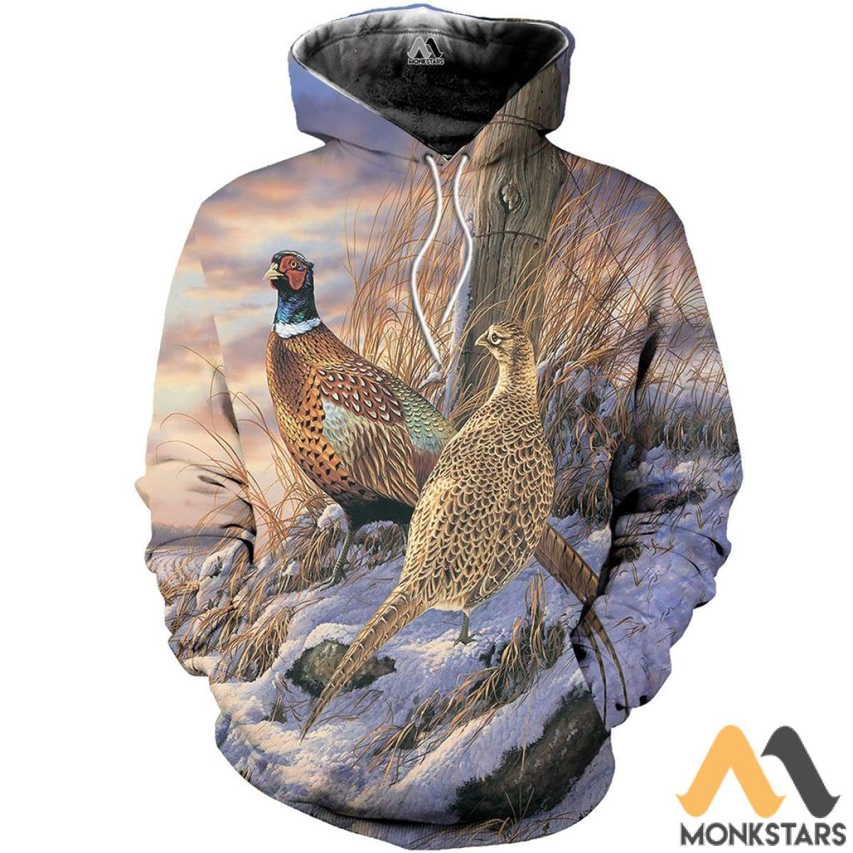 Pheasants In The Snow 3D All Over Printed Shirts For Men & Women Normal Hoodie / Xs Clothes