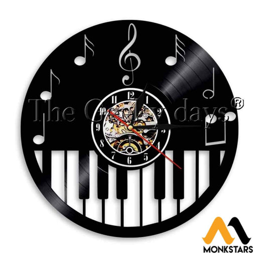 Piano Vinyl Wall Clock No