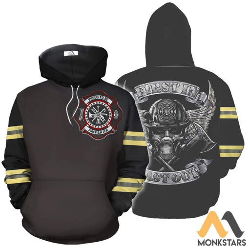 Proud To Be Firefighter 3D All Over Printed Shirts For Men & Women Normal Hoodie / Xs Clothes