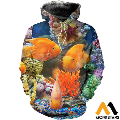 Reef Fish 3D All Over Printed Shirts For Men & Women Normal Hoodie / Xs Clothes
