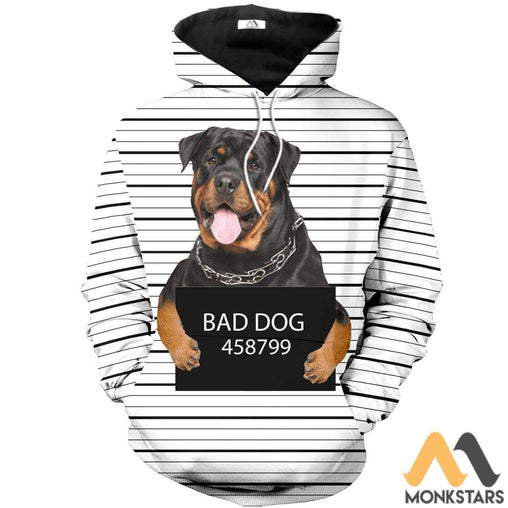 Rottweiler 3D All Over Printed Shirts For Men & Women Normal Hoodie / Xs Clothes
