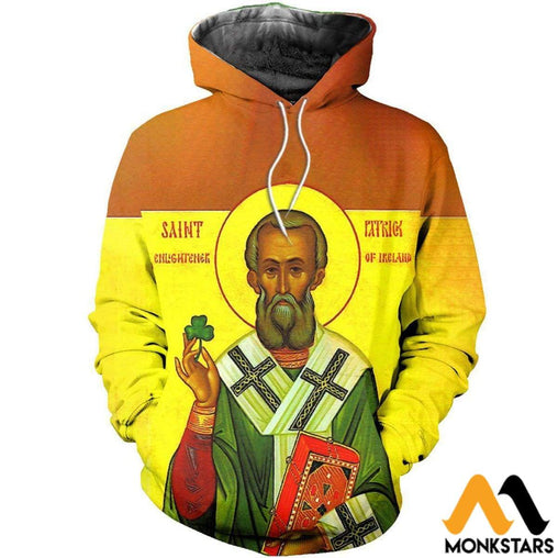 Saint Patrick 3D All Over Printed Shirts For Men & Women Normal Hoodie / Xs Clothes
