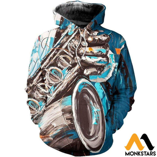 Saxophone 3D All Over Printed Shirts For Men & Women Normal Hoodie / Xs Clothes