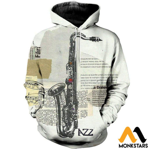 Saxophone Art 3D All Over Printed Shirts For Men & Women Normal Hoodie / Xs Clothes