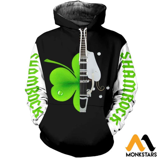 Shamrock Electric Guitar 3D All Over Printed Shirts For Men & Women Normal Hoodie / Xs Clothes