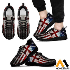 Sneakers - Knight Templar Flag Mens Black / Us5 (Eu38)