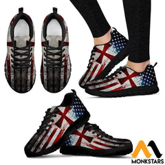 Sneakers - Knight Templar Flag Womens Black / Us5 (Eu35)
