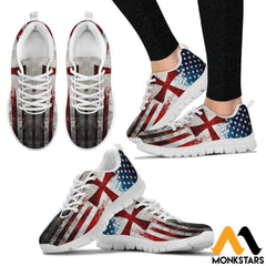 Sneakers - Knight Templar Flag Womens White / Us5 (Eu35)