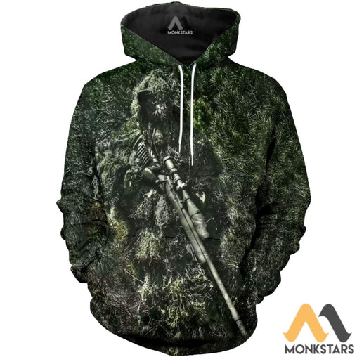 Sniper Camo Hunting 3D All Over Printed Shirts For Men & Women Normal Hoodie / Xs Clothes