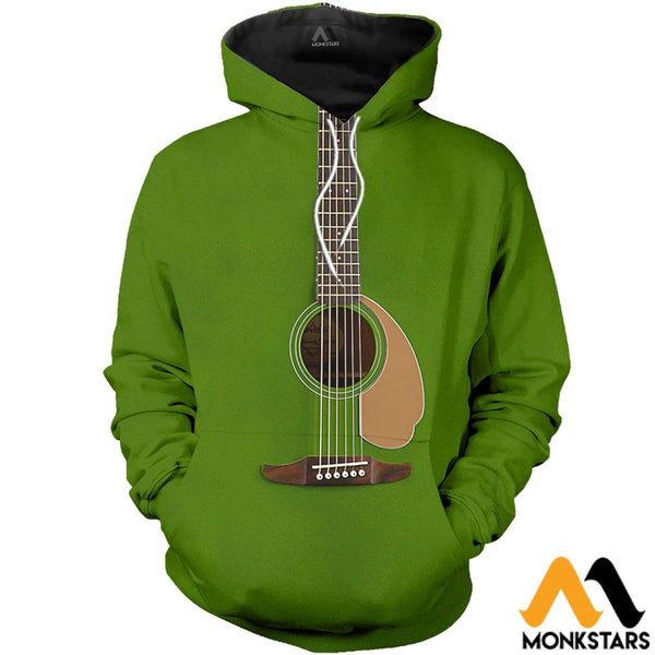 St Patrick S Day Acoustic Guitar 3d All Over Printed Shirts For Men